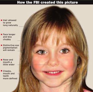 A nova imagem de Maddie nunca passou pelo FBI