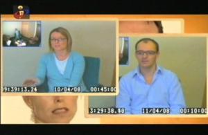A familia Payne durante os interrogatorios