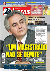 Na capa do 24horas - Exclusivo: A primeira grande entrevista de Lopes da Mota